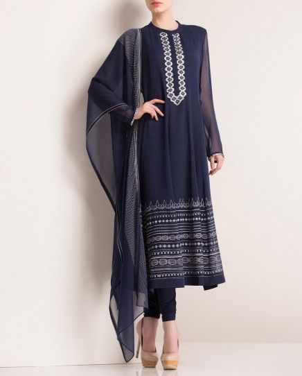 Dark Blue Anarkali Suit