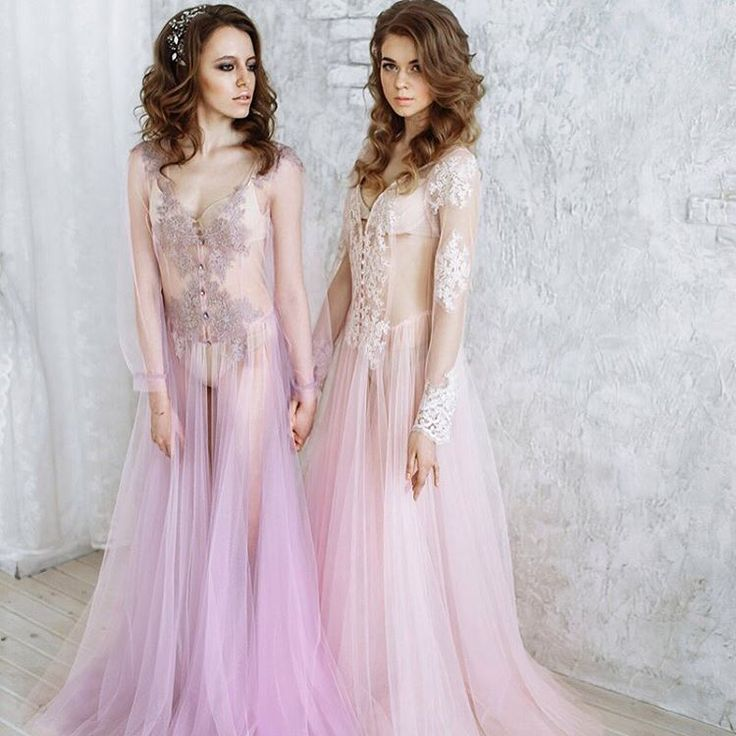 Фатин, будуарное платье