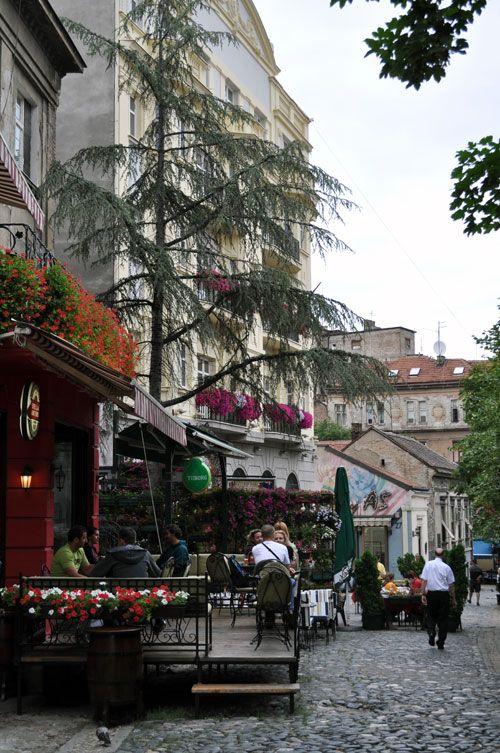 Belgrade, Serbia - Skadarlija is main bohemian quarter of Belgrade, styled as the Belgrade Montmartre.