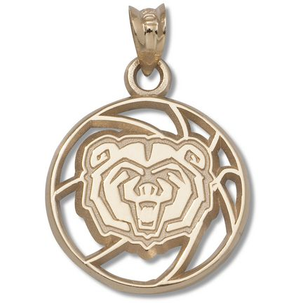 Missouri State University Bears Bear Head Pierced Basketball Pendant - 10KT Gold Jewelry: Enjoy this… #Sport #Football #Rugby #IceHockey