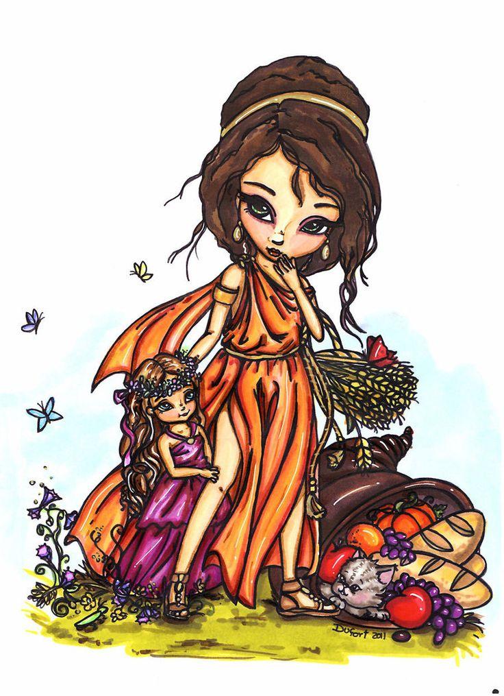 Jadedragonne Demeter And Young Persephone Tags Demeter