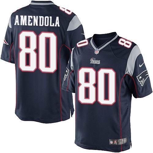68ffc9f24 ... Nike New England Patriots 80 Danny Amendola Blue Elite Jerseys 22.5 Patriots  80 Danny Amendola Navy Blue Team Color Mens Stitched NFL ...