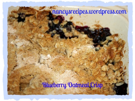Blueberry Oatmeal Crisp