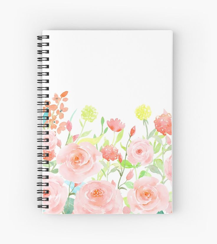 """""""Watercolor Roses"""" Spiral Notebooks by pencreations 