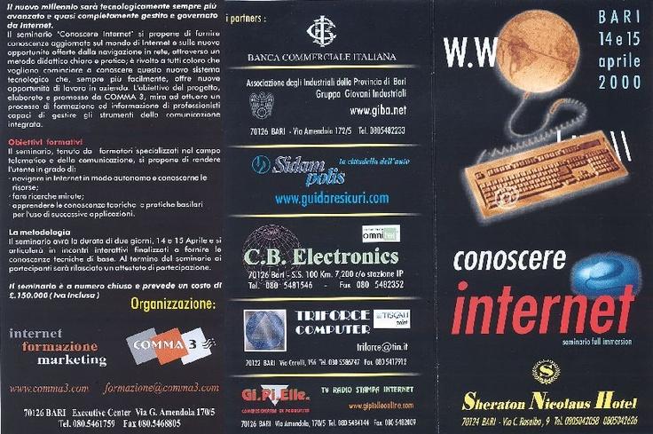 Brochure Conoscere internet - seminario full immersion
