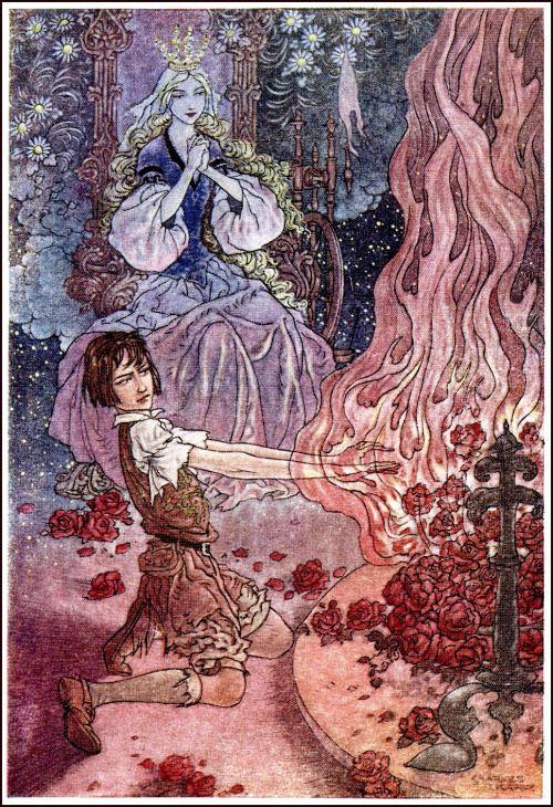 """saveflowers1: """"Искусство Чарльз Folkard,"""" Принцесса творожистый """"""""."""