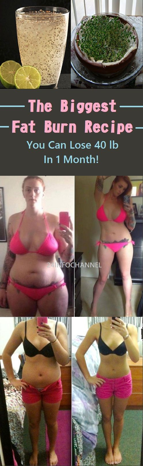 The Biggest Fat Burn Recipe! You Can Lose 40 Pound In 1 Month!
