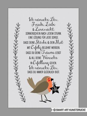 Zum Motiv: Sehr niedlich illustriertes Rotkehlchen mit dem Du einem besonders tollen Menschen ein paar ganz persönliche und liebe Wünsche übermitteln kannst ;-)    Der angegebene Preis (9,90...