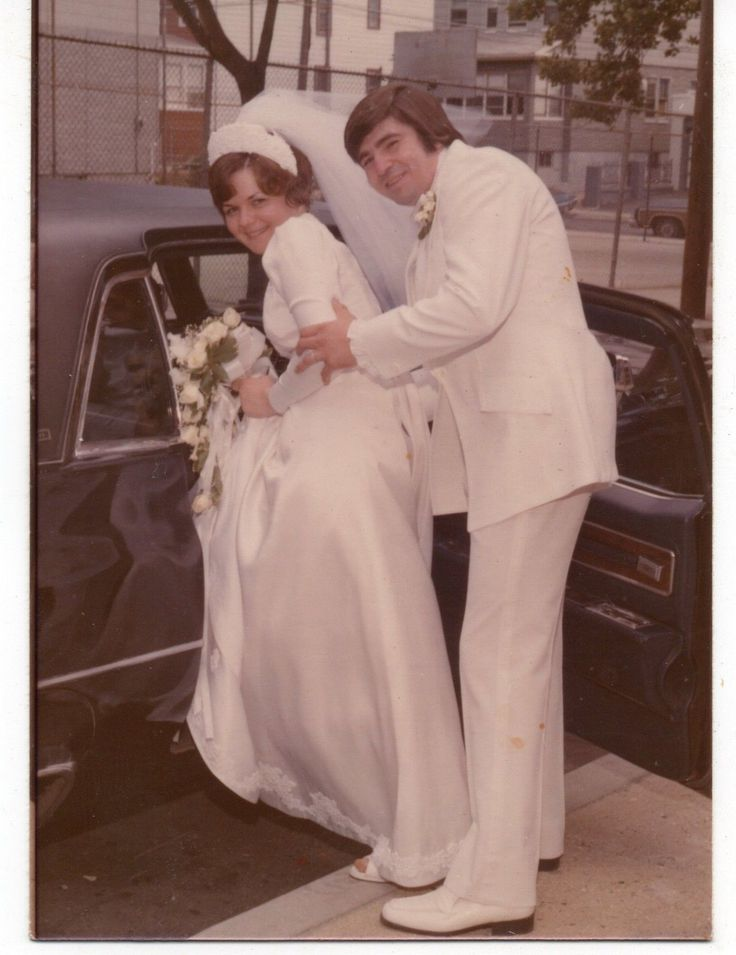 Vintage Photo of Pretty Bride Groom All in White Wedding 1970's Sep | eBay