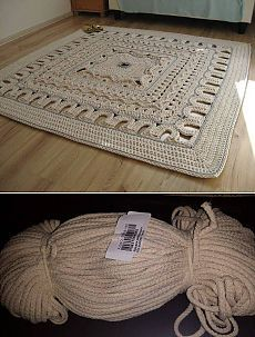 Шикарный коврик крючком