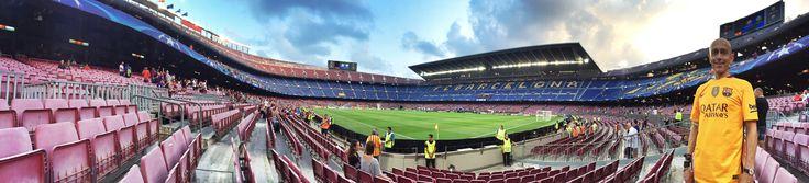 · al Camp Nou abans del partit Barcelona vs Celtic de la Champions League 13/09/2016    #Barça  #DavidEspunya  #ChampionsLeague
