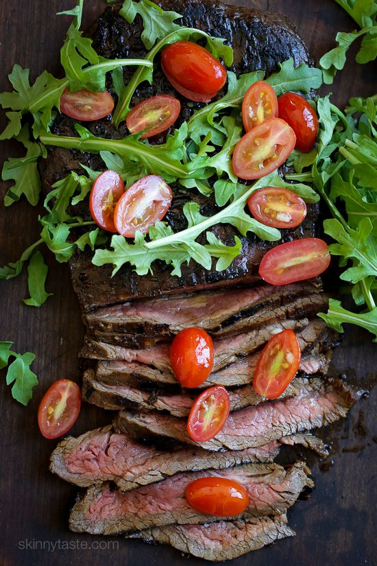 Easy dinner recipe, marinate the steak overnight if you wish then throw it on…