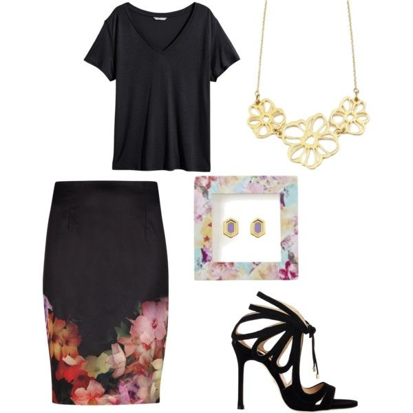 Flowers are Foxy by brittanypileggi on Polyvore featuring H&M, Ted Baker and Chelsea Paris