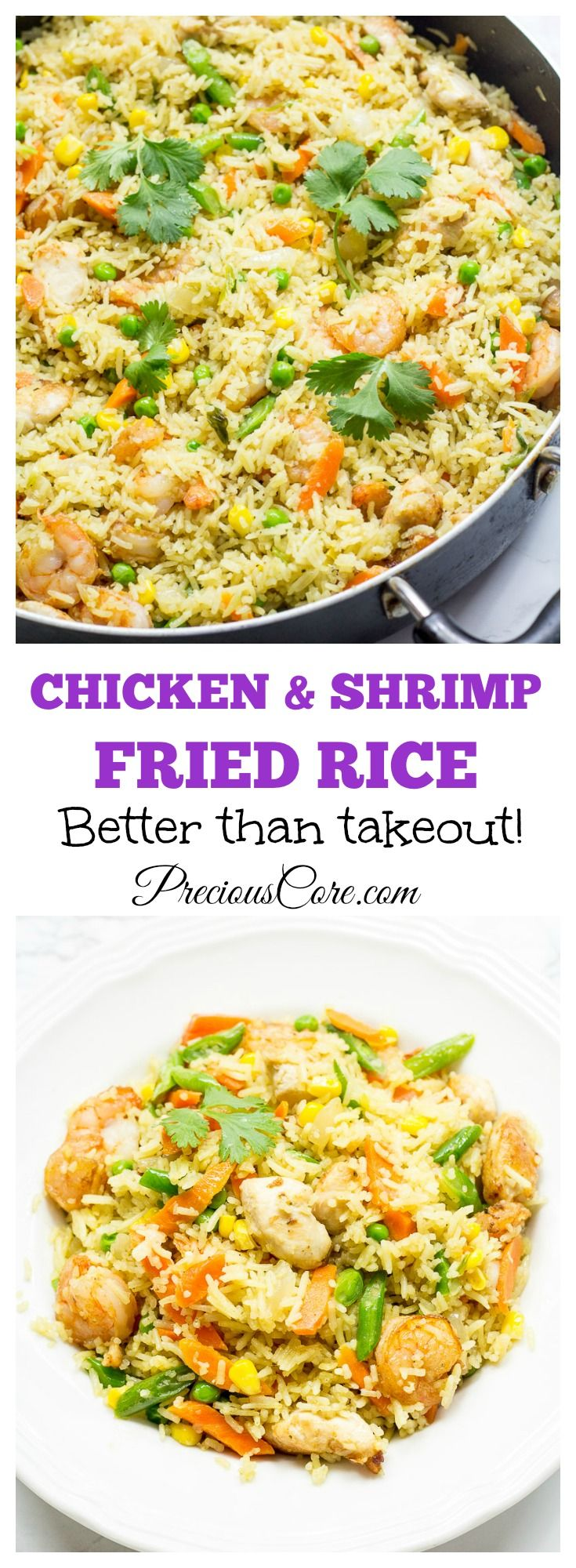 How to make the best chicken and shrimp fried rice!