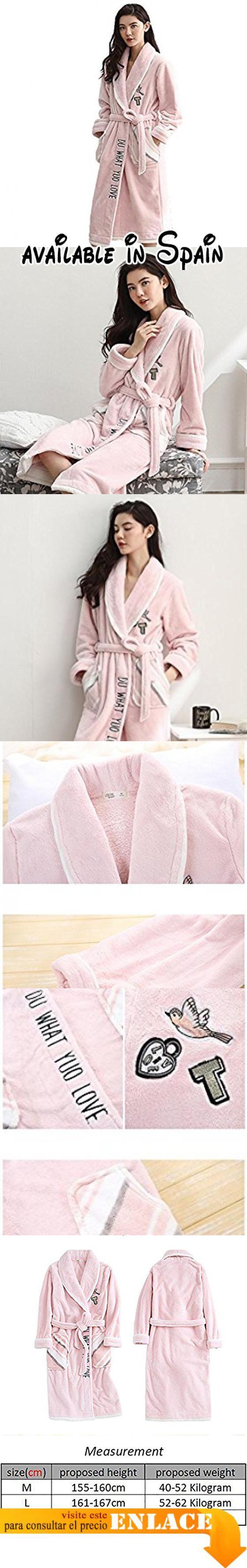 B0778TPF87 : Camisón de franela de invierno de manga larga para mujeres Kimono gruesa de albornoz suave Loungewear  Pink  m. Nuestro tamaño es diferente del tamaño del Reino Unido y la tabla de tamaño de Amazon elija el tamaño correcto con nuestra información detallada del tamaño en la imagen asegúrese de que los detalles le sientan bien;. Característica: el precioso camisón de franela tiene un tacto muy suave y es ideal para descansar en la casa;. Manga larga