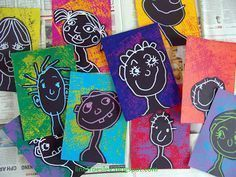 Art project for kids. Self portraits.