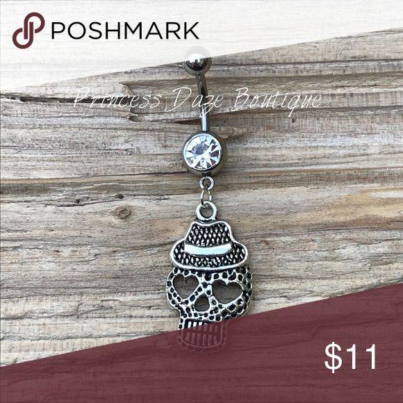 Silber Schädel Bauchnabel Ring Bauchnabel Piercing Körperschmuck Material: 316L Surgi …   – My Posh Picks