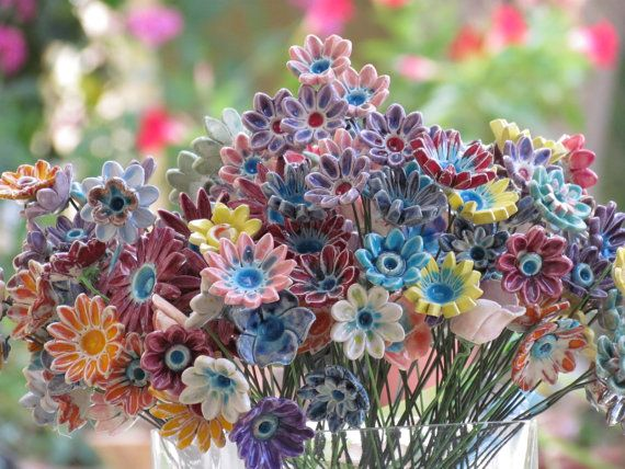 clay flower bouquet