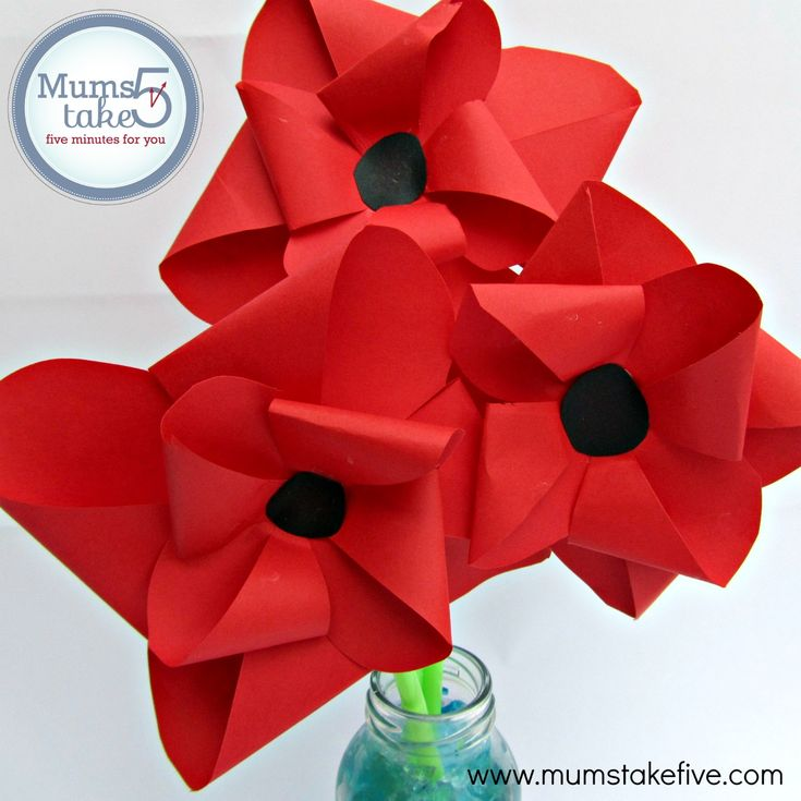 Poppies ANZAC Remembrance Day Craft