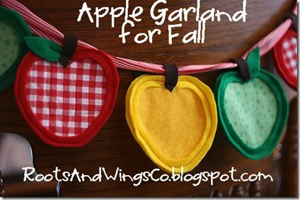 Handmade apple garland - perfect for fall decorating