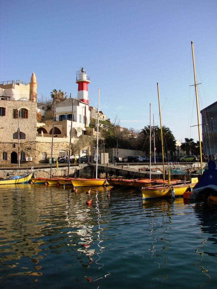 The Port of Jaffa, Israel. Jaffa and its port have a history spanning over three millennia.