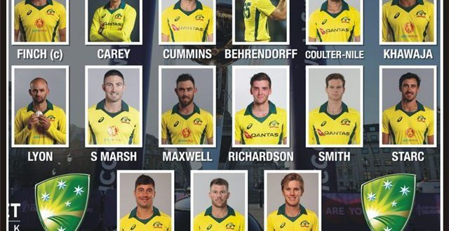 Australian Squad World Cup 2019 Schedule Teams Players List Fixtures Venues World Cup Live Cricket Streaming Cricket Streaming