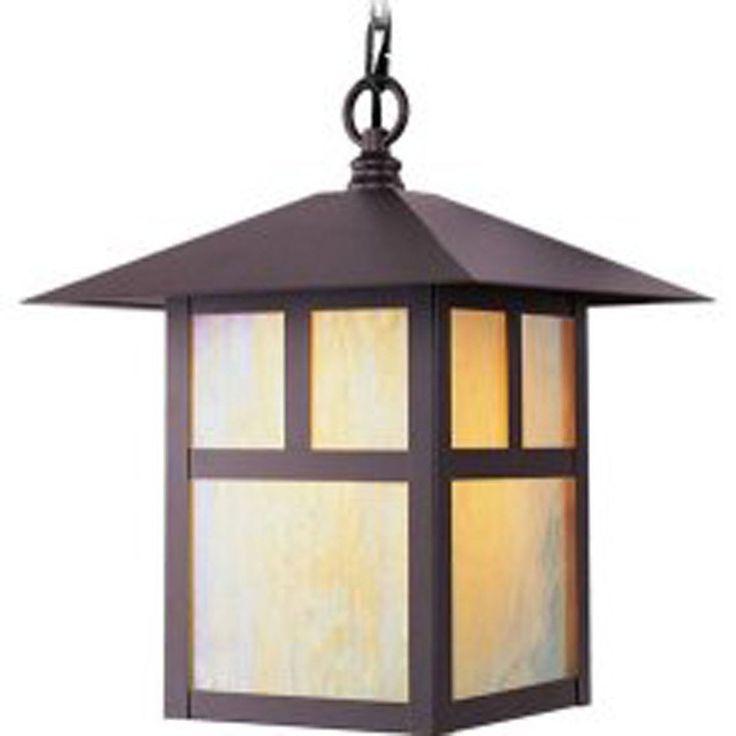 Aberdeen 13-in Bronze Outdoor Pendant Light