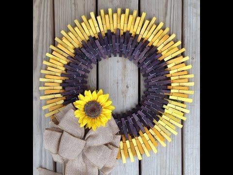 The 18 best Clothes Pin Wreaths images on Pinterest | Clothes pegs ...