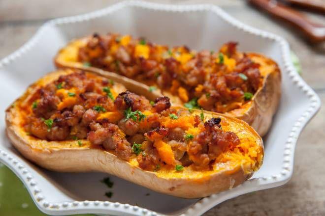 Ricetta Zucca Ripiena Al Forno.Ricette Di Zucca Al Forno Zucca Ripiena Con Salsiccia Ricette Di Zucca Al Forno Ricette Zucca Ripiena