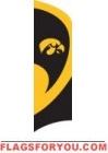Iowa Hawkeyes Tall Team Flag 8.5' x 2.5'