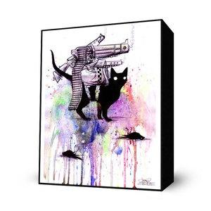 Super Cat Mini Art Block now featured on Fab.Cat Art, Minis Block, Cat Minis, Super Cat, Living Room, Prosper Zombies, Machine Guns, Art Block, Black Cat