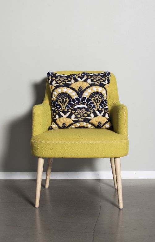 Topsia cushion cover, lemon by Scandinavian designer Aderelles -Nordic Design Collective