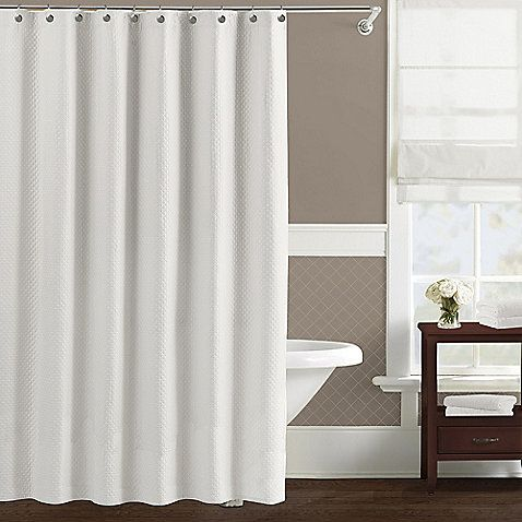 Buy Lamont Home™ Diamond Matelassé X Extra Long Shower Curtain In White  From At Bed Bath U0026 Beyond. This Simple, Yet Elegant Shower Curtain From  Wamsutta ...