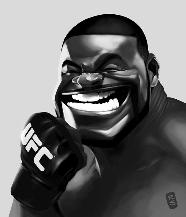 Rashad Evans by Ruslan Suleimanov, via Behance