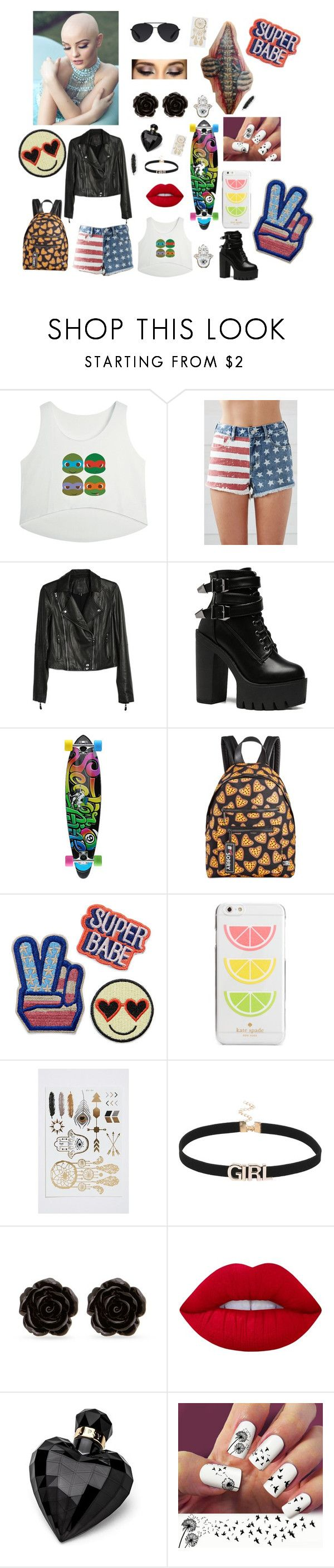 """""""Freetime"""" by judith-s ❤ liked on Polyvore featuring Bullhead Denim Co., Paige Denim, Billabong, Circus by Sam Edelman, Kate Spade, Erica Lyons, Lime Crime, Lipsy and Bally"""