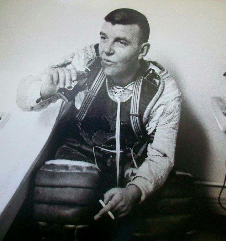 Gumper enjoying a post game beer and cigarette.