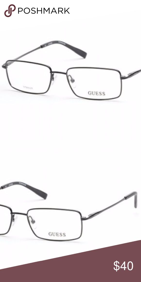 Guess Eyewear GU 1855, Titanium Frame Men's Guess Eyewear. Titanium frame in an olive color. Brand New with spring hinges! Guess Accessories Glasses
