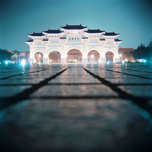 Chiang Kai-Shek Memorial, Taipei, Taiwan Was here during the day, but this is a stunning photo
