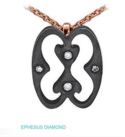 8k gold  diamond  pendant  symbol of hope  by ephesusdiamond, $700.00