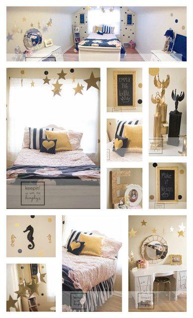 Pink, Gold, Black U0026 White Bedroom