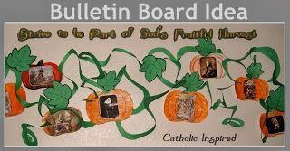 God's Fruitful Harvest ~ Craft and Bulletin Board Idea - Catholic Inspired