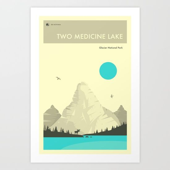 GLACIER NATIONAL PARK POSTER by Jazzberry Blue @society6 #home #decor #poster #design #graphic #digital #college #dorm #student #apartment #products #digital #chic #fashion #style #gift #idea #society6 #design #shop #shopping #buy #sale #fun #accessory #accessories #art #digital #contemporary #cool #hip #awesome  #sweet
