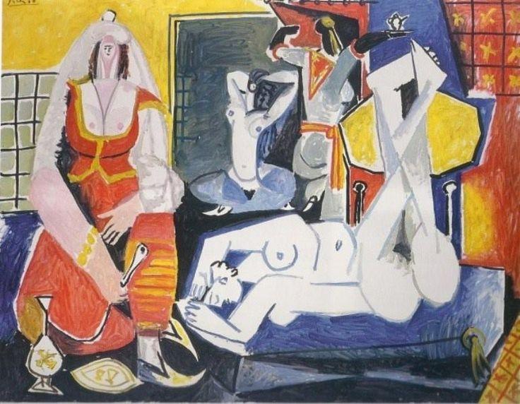 Pablo Picasso - Les femmes d'Alger (J), 1955.