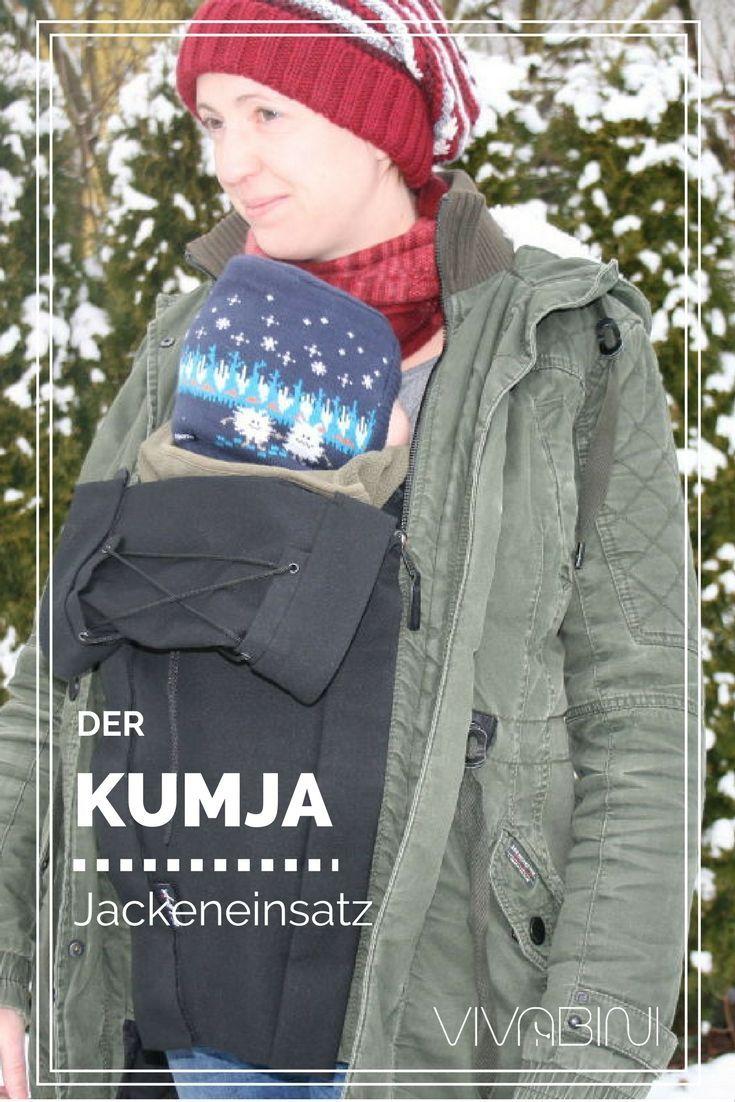 Auch im Winter ist Tragen nicht schwierig. Mit der richtigen Ausrüstung sind dein Baby als auch du selbst gut eingepackt. Der Kumja verwandelt deine normale Winterjacke in eine Tragejacke.