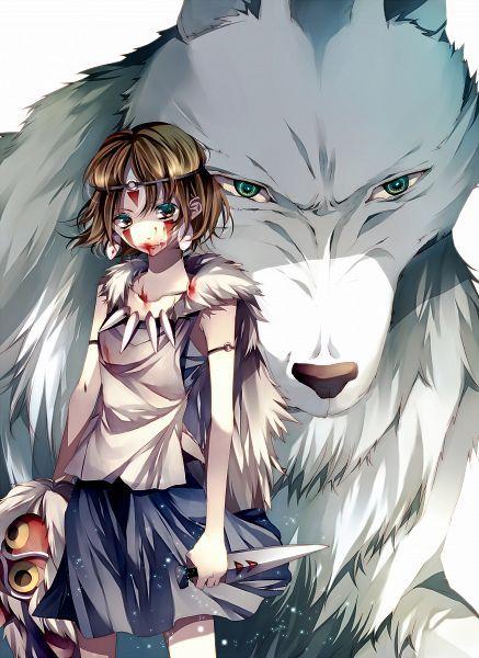 Tags: Anime, Dagger, Wolf, Mononoke Hime, Studio Ghibli, Tsukioka Tsukiho, San (Mononoke Hime)