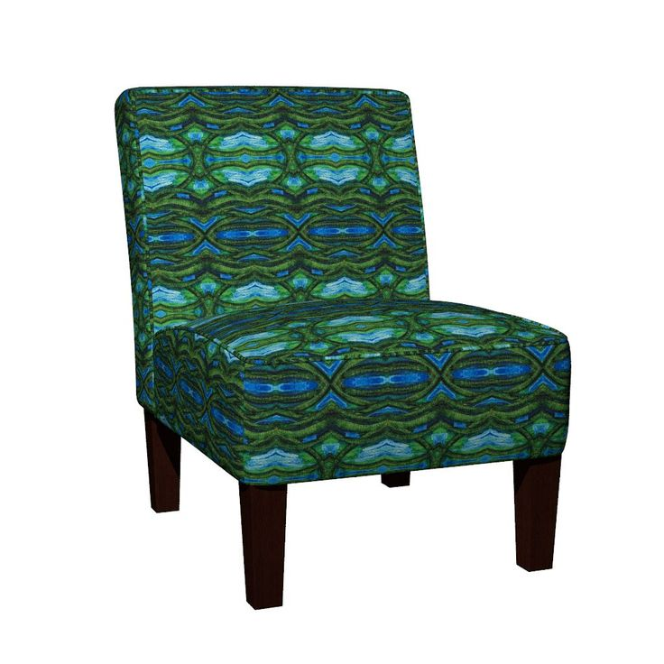 Maran Slipper Chair featuring COLLAGE HORIZONTAL POSIDONIA by joancaronil | Roostery Home Decor
