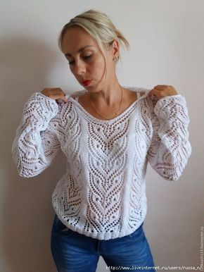 Красивый узор для пуловера (УЗОРЫ СПИЦАМИ) | Журнал Вдохновение Рукодельницы