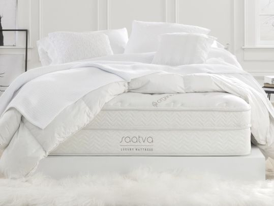 Help me win an awesome Saatva luxury coil-on-coil pillow-top mattress from @goodbed!