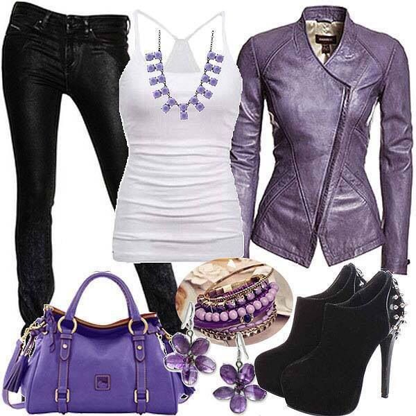 Biker leathers wife beater! This screams Gemma Teller Morrow (Sons of Anarchy) I love this purse!
