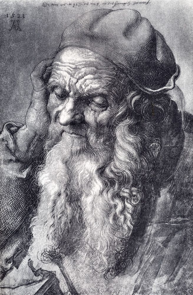 Albrecht Durer (1471-1528) ~ Head Of An Old Man ~ Brush drawing ~ 1521 ~Private Collection